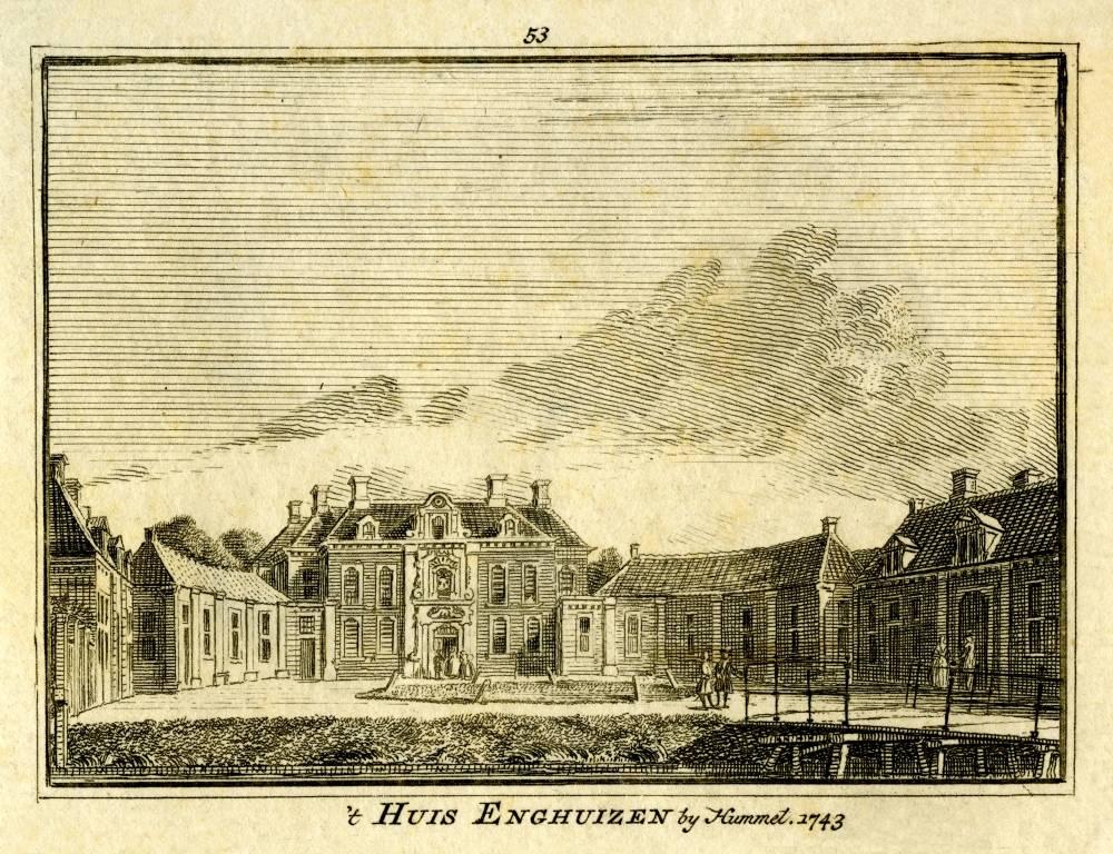 Enghuizen in Hummelo. Tekening Jan de Beijer, gravure Hendrik Spilman (Uit: Het Verheerlykt Nederland, Isaac Tirion, 1745/1774)